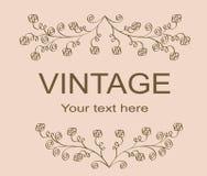 Vintage floral frame. Vintage retro floral frame, illustration vector illustration
