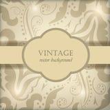 Vintage floral frame. Stock Photos