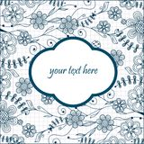 Vintage floral frame. Royalty Free Stock Photography