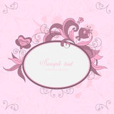 Vintage floral frame Stock Photo