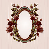 Vintage floral frame Royalty Free Stock Photos