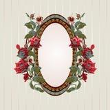 Vintage floral frame Stock Photos