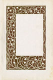 Vintage floral frame. And paper texture Royalty Free Stock Photos