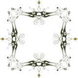 Vintage floral frame. Vector vintage floral frame & white background stock illustration