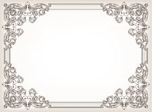 Vintage floral frame Royalty Free Stock Images
