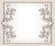 Vintage floral frame Stock Photography