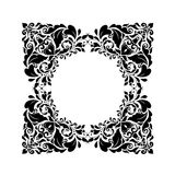 Vintage floral frame (black and white) Stock Photography