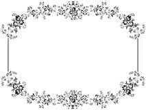Vintage floral frame with copyspace Royalty Free Stock Images