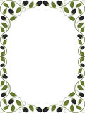 Vintage floral frame. Decorative pattern Royalty Free Stock Photos