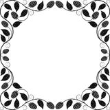 Vintage floral frame. Decorative pattern Royalty Free Stock Photo