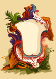 Vintage Floral frame. Holidays Greeting or wedding Stock Images