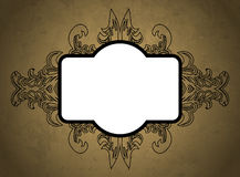 Vintage floral frame. Element for design. Royalty Free Stock Images