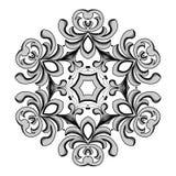 Vintage floral frame. Element for design. Stock Image