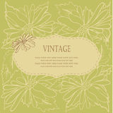 Vintage floral frame with flowers Royalty Free Stock Photo