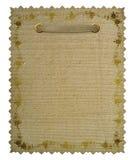 Vintage floral frame. Grunge paper Stock Photography