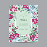 Vintage Floral Frame for Invitation Royalty Free Stock Photo