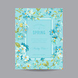 Vintage Floral Frame for Invitation Stock Photography