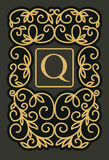 Vintage floral frame - monogram design Stock Image