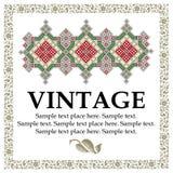 Vintage floral frame. Retro Stock Photos