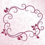 Vintage floral frame. On seamless background Royalty Free Stock Photo