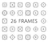 Vintage floral frame set Royalty Free Stock Images