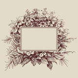 Vintage floral frame. With space for text Royalty Free Stock Image