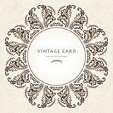 Vintage Floral Frame.Vector illustration Royalty Free Stock Photo