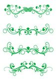 Vintage floral frames. Antique vintage floral frames isolated on white for design Royalty Free Stock Photos