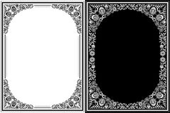 Vintage floral frames Royalty Free Stock Photo