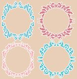 Vintage Floral Frames Stock Photography
