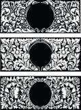 Vintage floral frames Stock Images