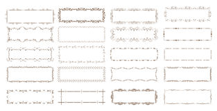 Vintage floral frames. Elements for decoration on white background Royalty Free Stock Image