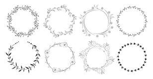 Vintage floral frames. Stock Image