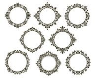 Vintage floral frames set Stock Image