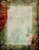 Vintage - Floral Garden Scrapbook Background Frame Stock Images
