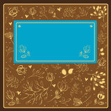 Vintage floral greeting card. Royalty Free Stock Photos