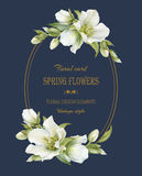 Vintage floral greeting card Stock Photos