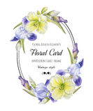 Vintage floral greeting card Stock Images