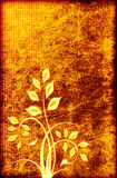 Vintage floral grunge background. Vintage floral on a grunge background stock illustration