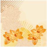Vintage floral grunge background Stock Photo