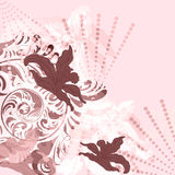Vintage floral grunge background Stock Images