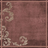 Vintage Floral Grunge Bohemian Tapestry Scrapbook Background Stock Images