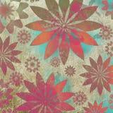 Vintage Floral Grunge Scrapbook Background Royalty Free Stock Images