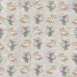 Vintage floral handwritten wallpaper Stock Photography