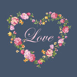 Vintage Floral Heart Royalty Free Stock Photography