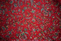 Vintage floral India silk Stock Photography
