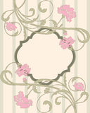 Vintage floral invitation card with place for text Stock Images