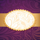 Vintage floral invitation postcard Royalty Free Stock Photography