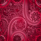 Vintage floral motif ethnic seamless background. Royalty Free Stock Photo