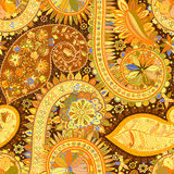 Vintage floral motif ethnic seamless background. Stock Photography